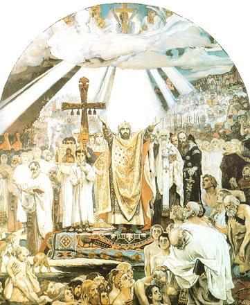 Фреска в м васнецова крещение руси